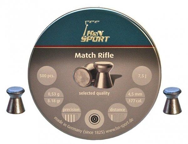 Пули пневматические H&N Finale Match Rifle (500 шт, 4,5 мм, 0,53 г)
