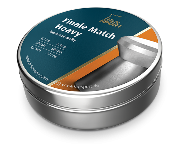 Пули пневматические H&N Finale Match Heavy (500 шт, 4,5 мм,  0,53 г) 02045