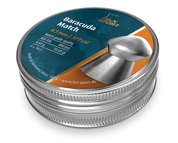Пули пневматические H&N Baracuda Match (500 шт, 4,5 мм, 0,69 г) 02049
