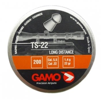 Пули пневматические Gamo TS-22 (200 шт, 5,5 мм, 1,4 г)
