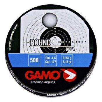 Пули пневматические Gamo Round (500 шт, 4,5 мм, 0,53 г)