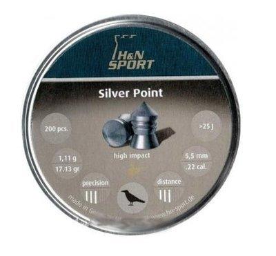 Пули пневматические H&N Silver Point (200 шт, 5,5 мм, 1,11 г)