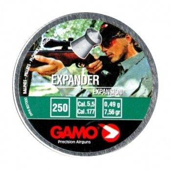 Пули пневматические Gamo Expander (250 шт, 5,5 мм, 0,49 г)