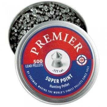 Пули пневматические Crosman Premier Super Point (500 шт, 4,5 мм, 0,51г)