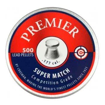 Пули пневматические Crosman Premier Super Match (500 шт, 4,5 мм, 0,51 г)