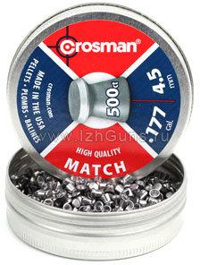 Пули пневматические Crosman  Match (500 шт, 4,5 мм, 0,51 г)