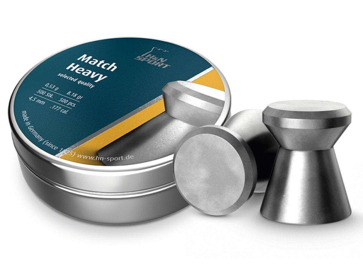 Пули пневматические H&N Match Heavy (500 шт, 4,5 мм, 0,53 г) 02042