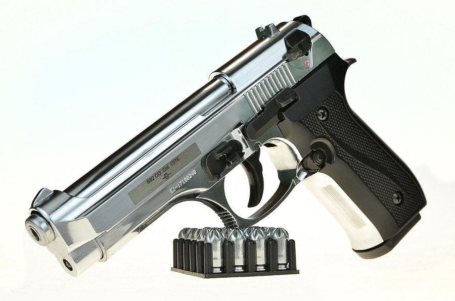 Охолощенный пистолет Beretta B92-СО Хром, 10ТК 02023