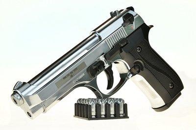 Охолощенный пистолет Beretta B92-СО, 10ТК (хром)