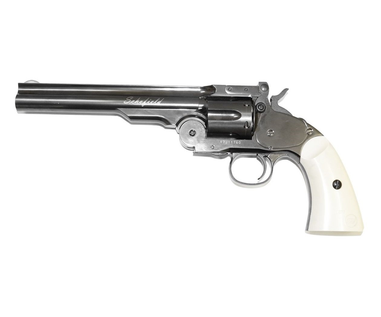 Револьвер ASG Schofield-6 steel grey