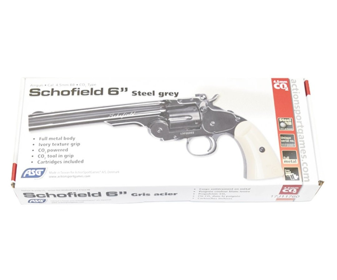 Револьвер ASG Schofield-6 steel grey