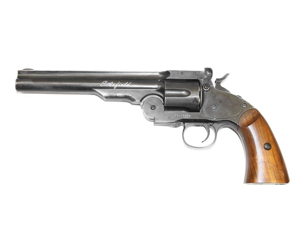 Револьвер ASG Schofield-6 aging black (пулевой) 02268