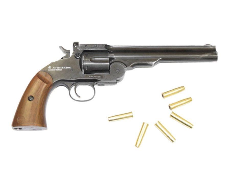 Револьвер ASG Schofield-6 aging black (пулевой)