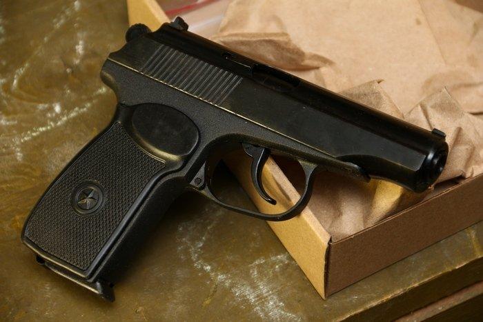 Охолощенный пистолет Р-411-01, 10ТК (литой затвор) 84359