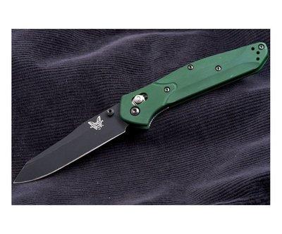 Нож складной Benchmade Osborne, reverse tanto, axis, зеленая рукоять
