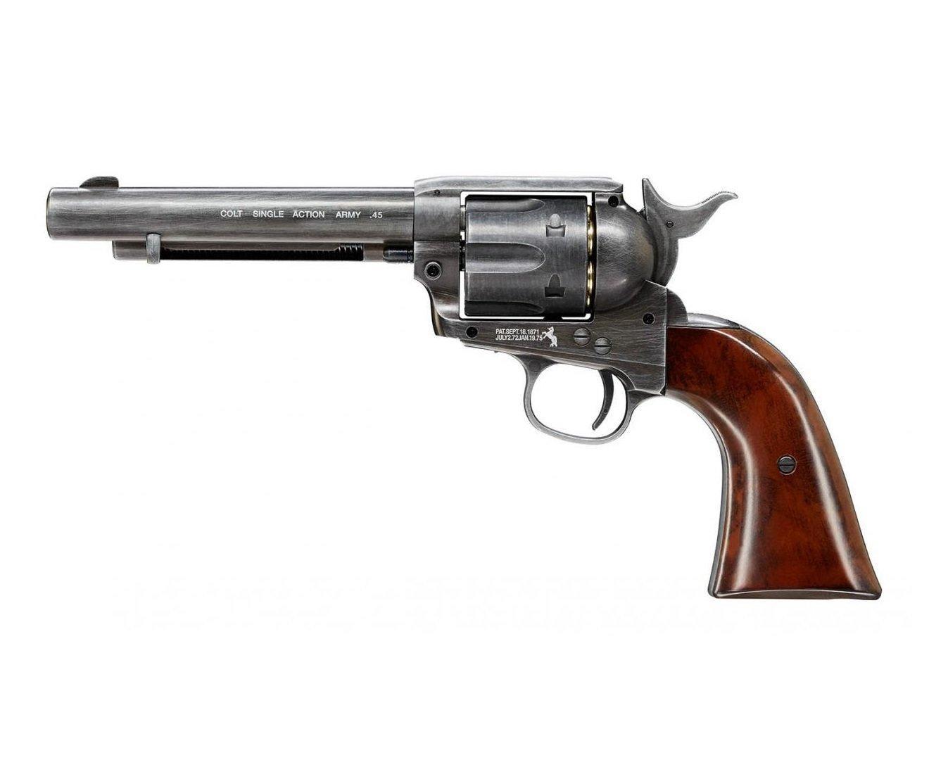 """Револьвер Umarex Colt Single Action Army (SAA) .45 Antique, пулевой (5,5"""") 01601"""