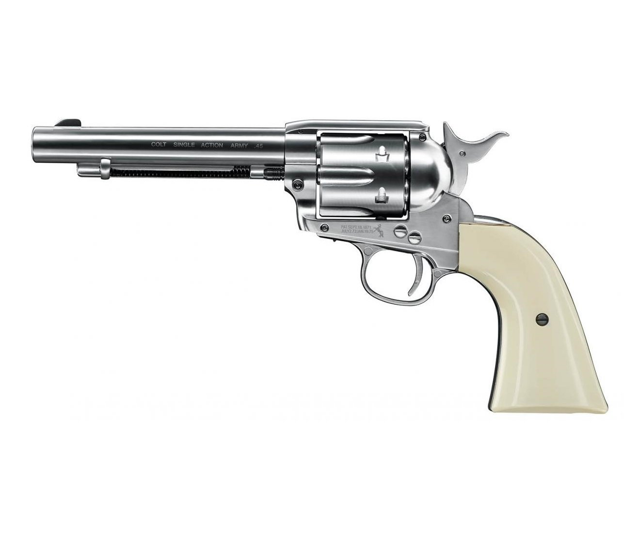 "Револьер Umarex Colt Single Action Army (SAA) .45 Nickel, пулевой (5,5"") 01602"
