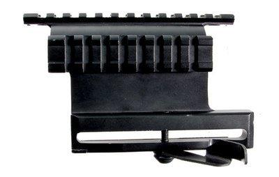 Боковой кронштейн (быстросъем.) с 2-мя планками Weaver на Тигр, Сайгу, Вепрь