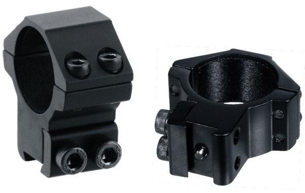 Кольца Leapers Accushot 30 мм для установки на оружие с призмой 10-12 мм, STM, средние