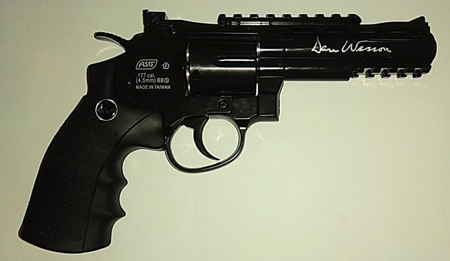 """Пневматический револьвер ASG Dan Wesson 4"""" Grey купить"""