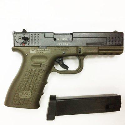 Охолощенный пистолет К17-CO, 10ТК (зеленый)