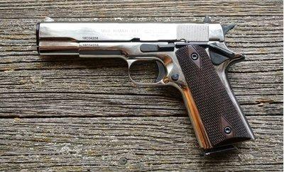 Охолощенный пистолет Colt 1911-СО (хром), 10x24