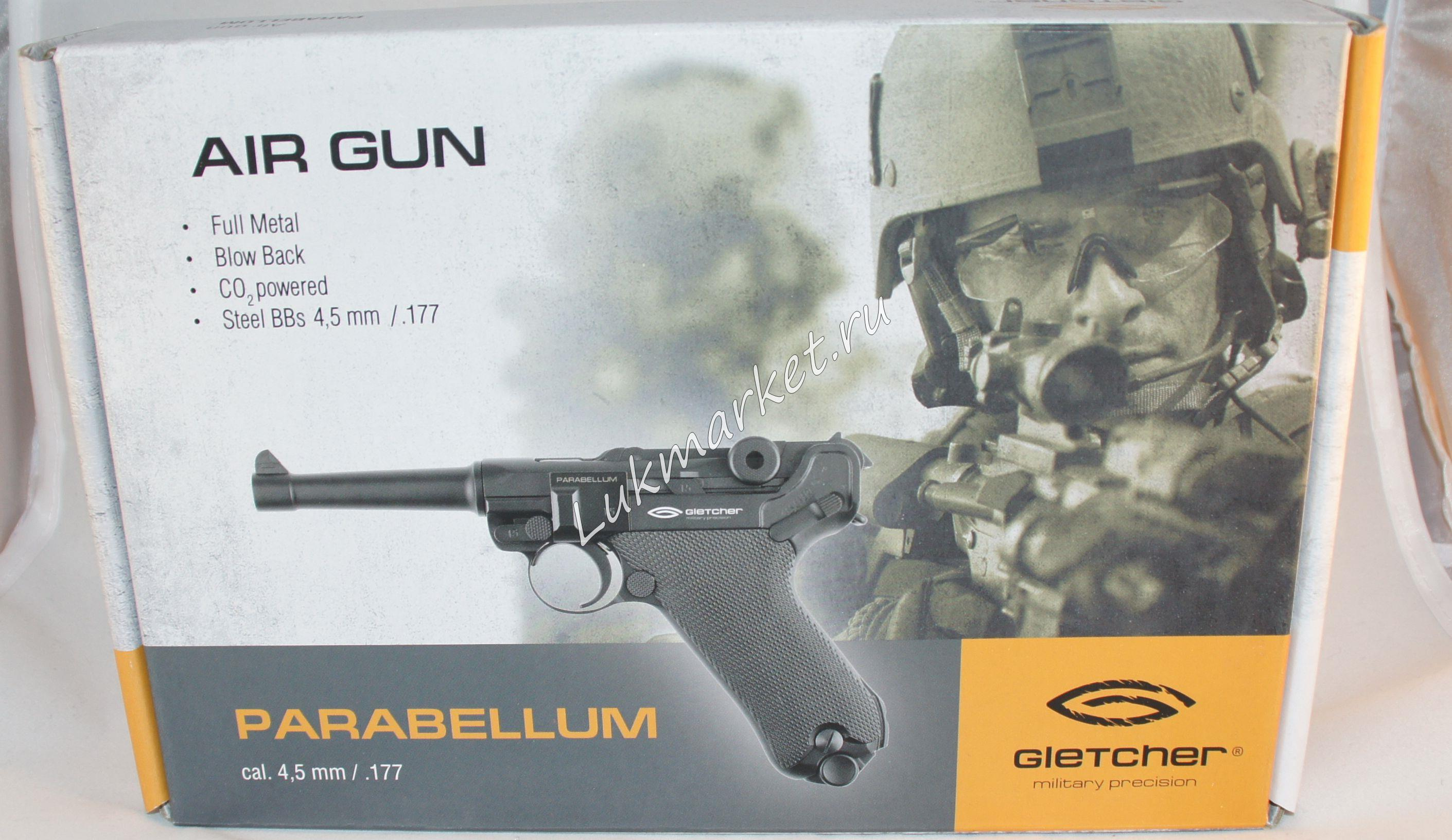 Пистолет Gletcher Parabellum