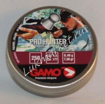 Пули пневматические Gamo Pro Hunter (250 шт, 4,5 мм, 0,49 г)