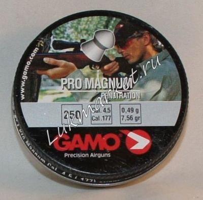 Пули пневматические Gamo Pro-Magnum (250 шт, 4,5 мм, 0,49 г)