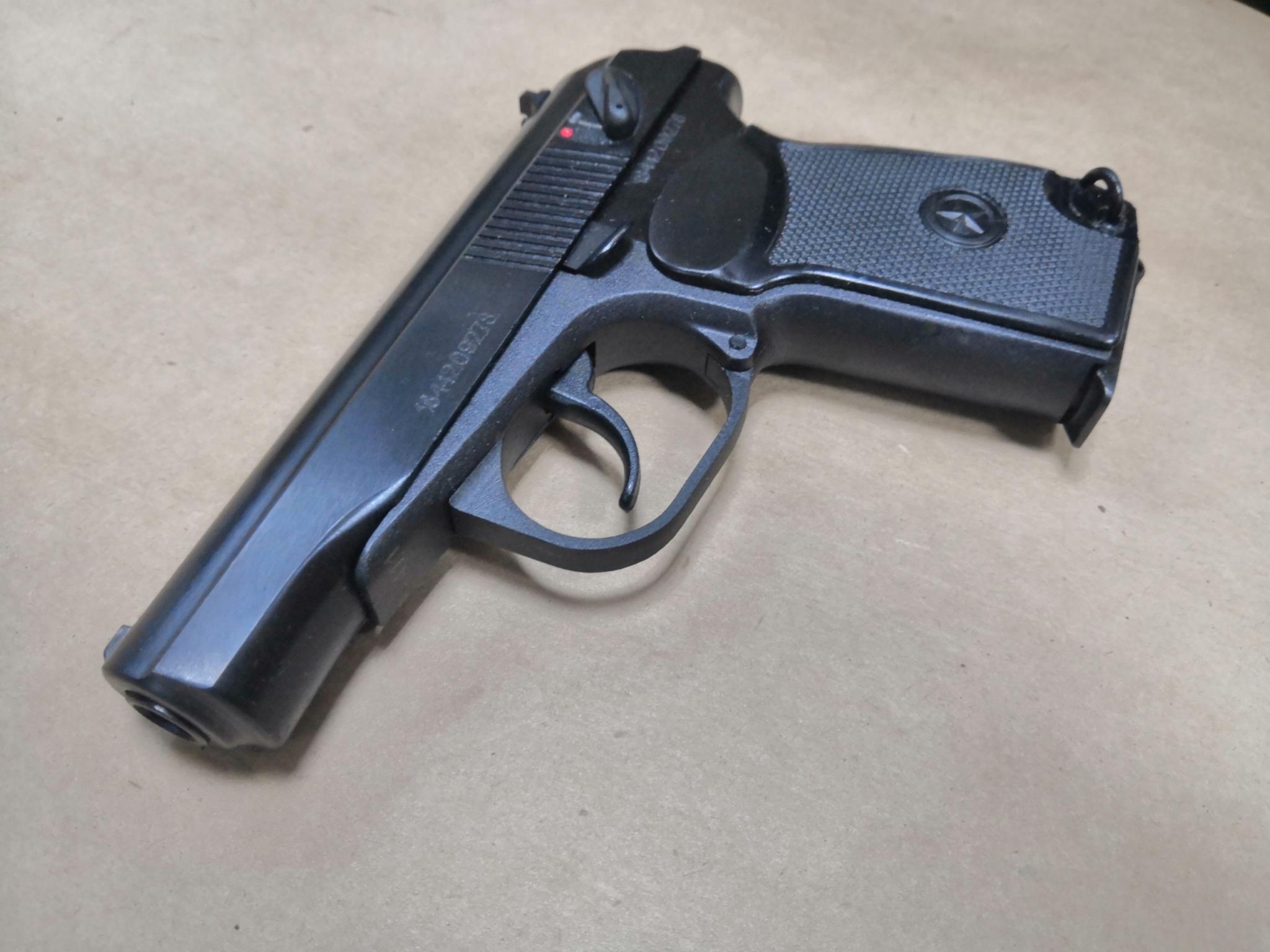 Охолощенный пистолет Р-411-01, 10ТК (литой затвор)