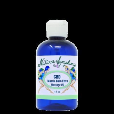 CBD Muscular Balm, Extra Strength Massage Oil - 4 fl. oz. (118ml)