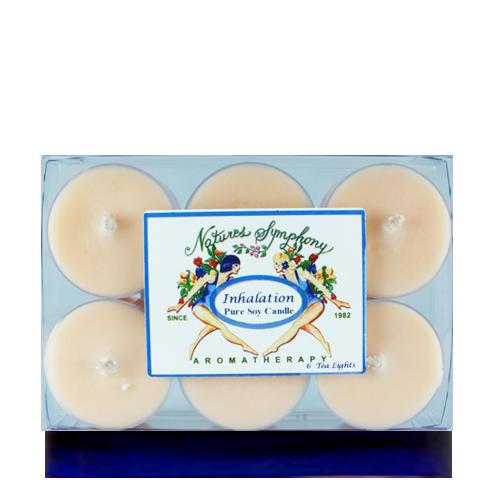 Tea Lights (Inhalation Blend), Pure Soy Candle - 1oz/6 pack