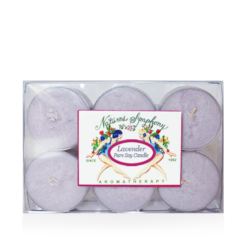 Tea Lights (Lavender), Pure Soy Candle - 1oz/6 pack