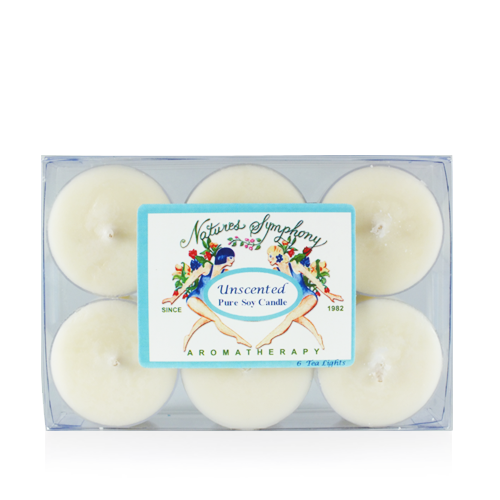 Tea Lights (Unscented), Pure Soy Candle - 1oz/6 pack