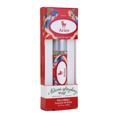 Aries, Roller Ball, Astrological Organic/Wildcrafted Fragrance - 10ml
