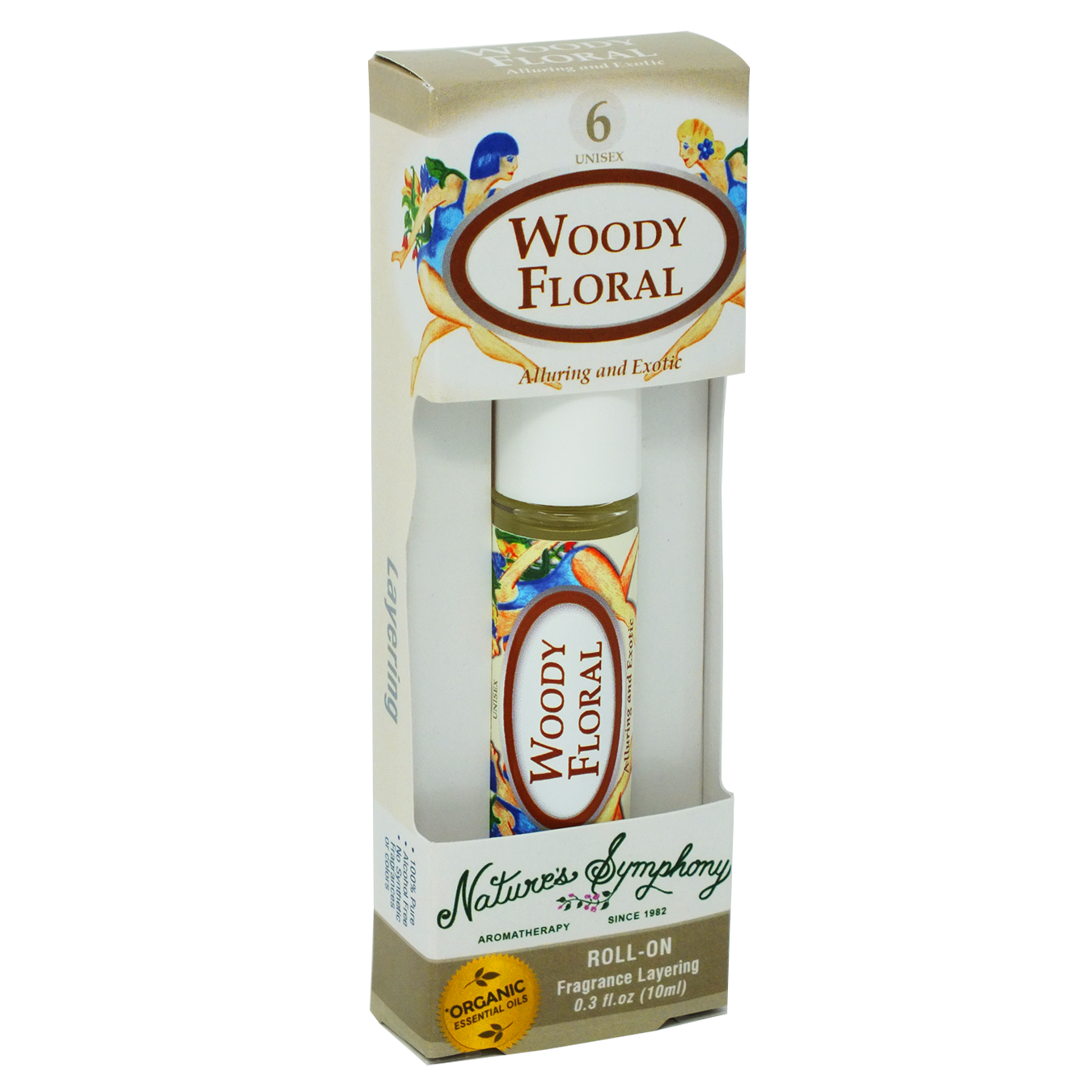 Woody Floral #6, Roller Ball, Blend Organic/Wildcraft - 10ml