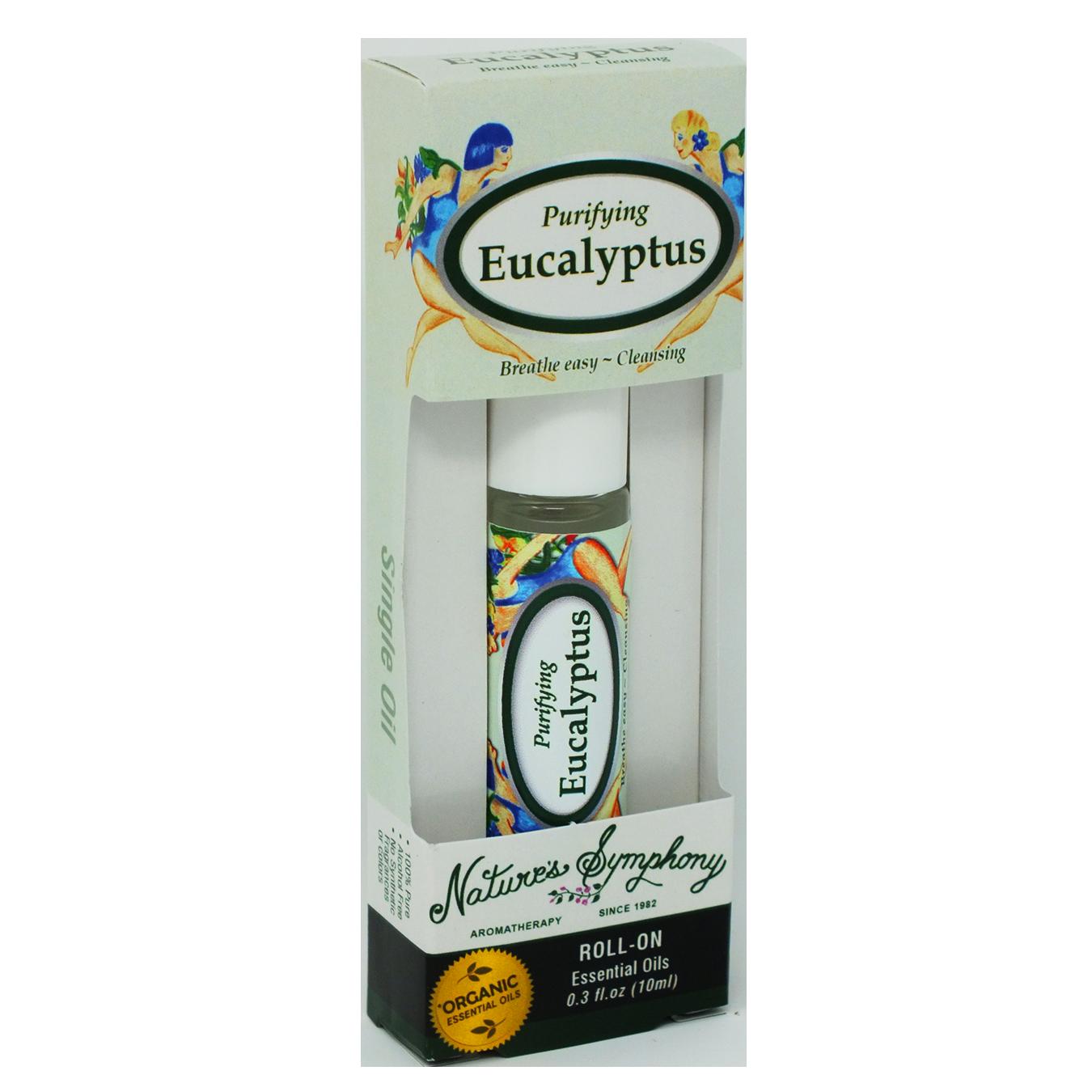 Purifying Eucalyptus, Roller Ball, Blend Organic/Wildcraft - 10ml