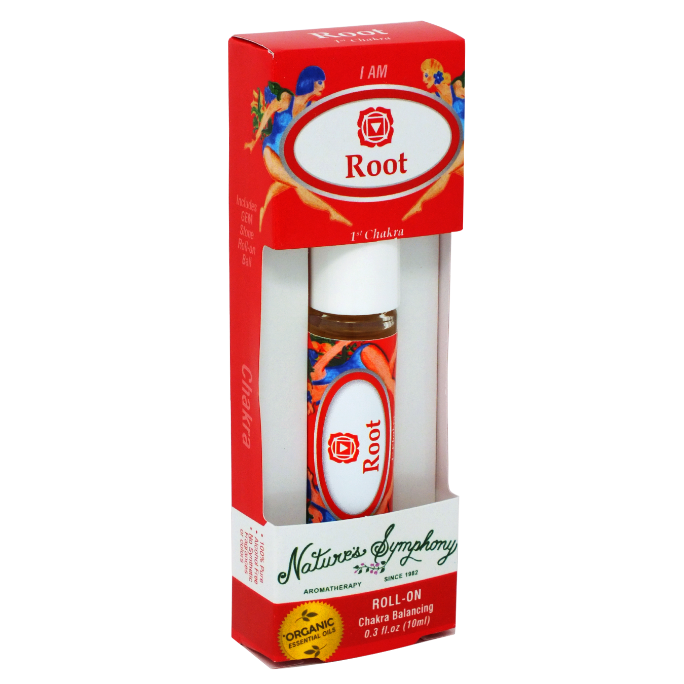 1st Chakra | Root, Roller Ball, Chakra Blend Organic/Wildcraft - 10ml