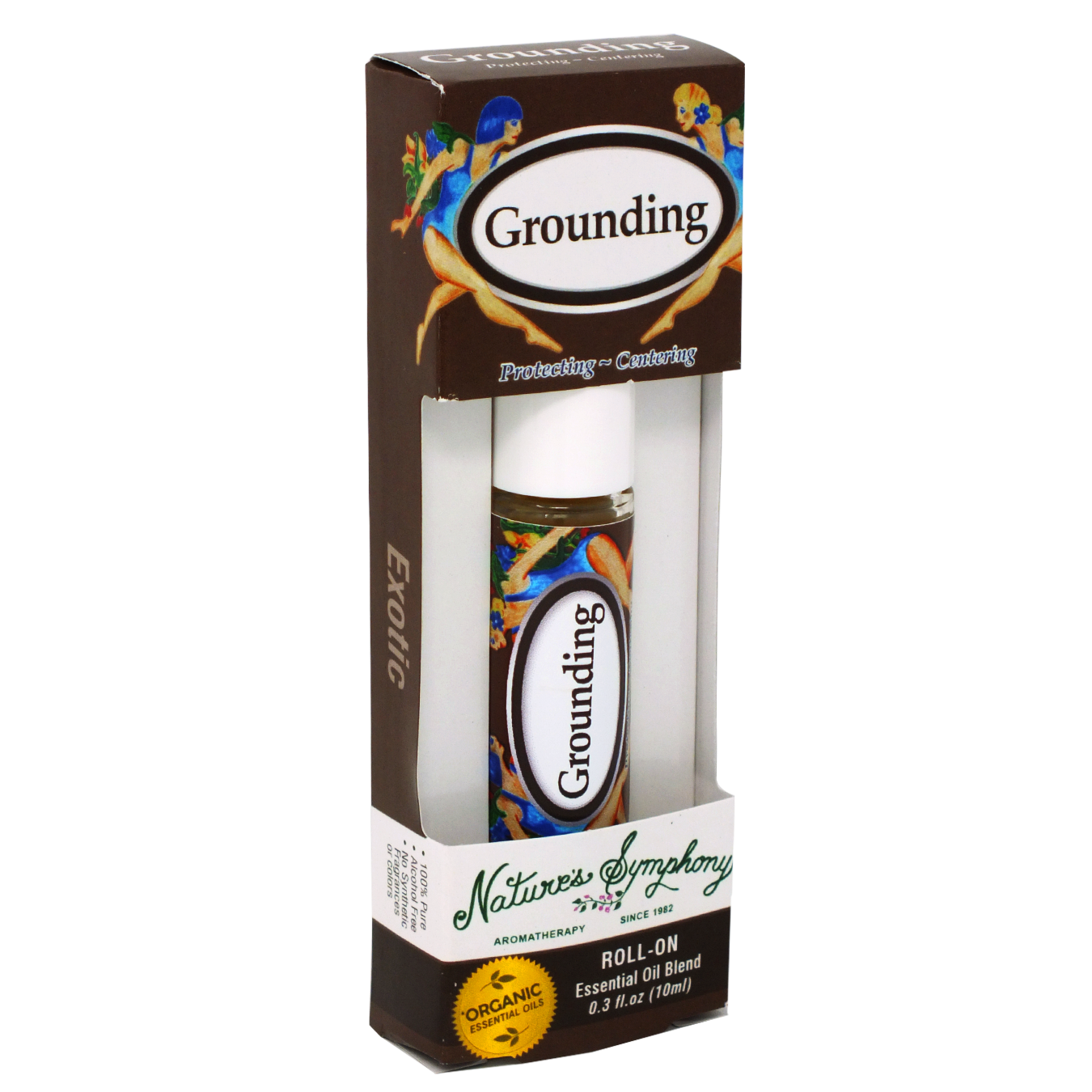Grounding, Roller Ball, Exotic Organic/Wildcrafted Fragrance - 10ml