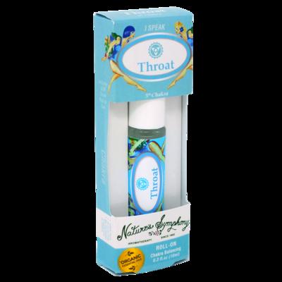 5th Chakra | Throat, Roller Ball, Chakra Blend Organic/Wildcraft - 10ml
