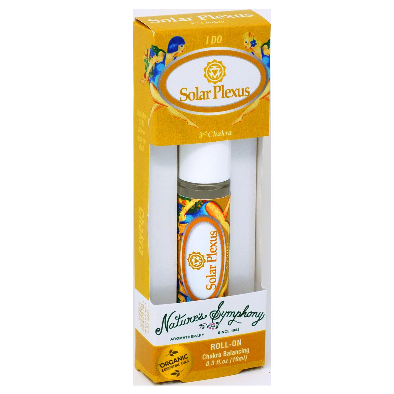 3rd Chakra | Solar Plexus, Roller Ball, Chakra Blend Organic/Wildcraft - 10ml