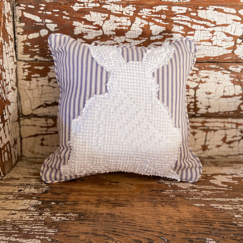Chenille Vintage Bunny Pillow Cover