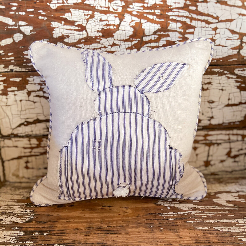 Tattered Bunny Pillow Cover