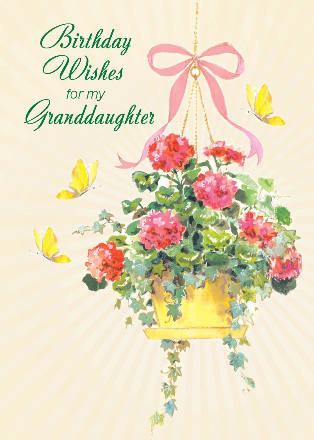 FR0343 Family Birthday Card Granddaughter