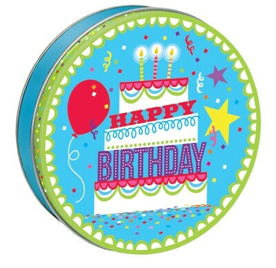 Happy Birthday Candy Tin with 13.5 oz. of Candy - Your Choice and Free Shipping