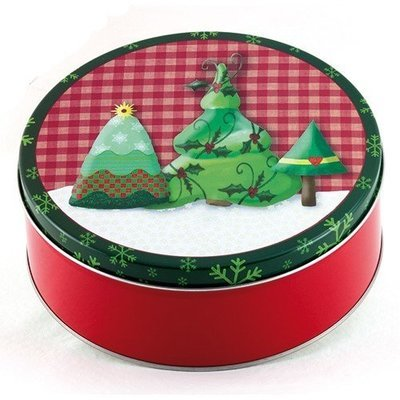 Country Christmas Candy Tin with 13.5 oz. of Candy - Your Choice and Free Shipping