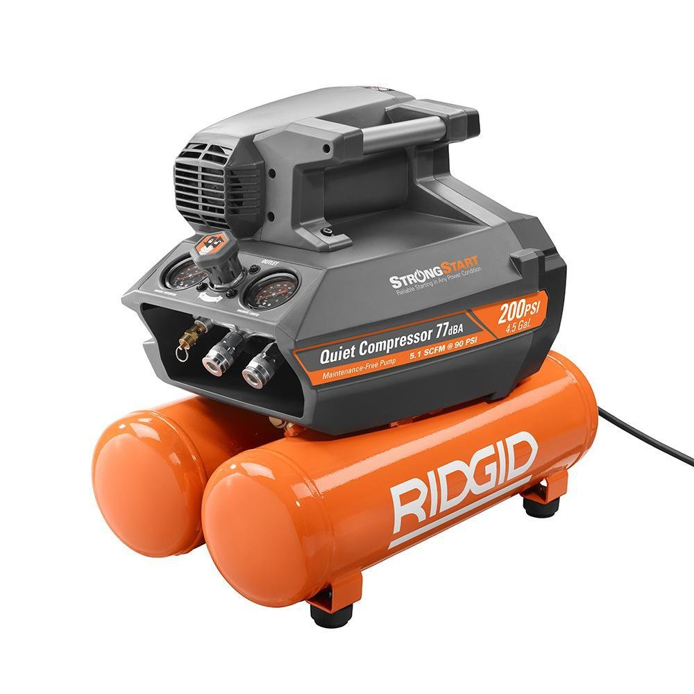 Rigid 200 PSI 4.5 Gallon Electric Air Compressor SN-Rigid-4.5-Air-Compressor