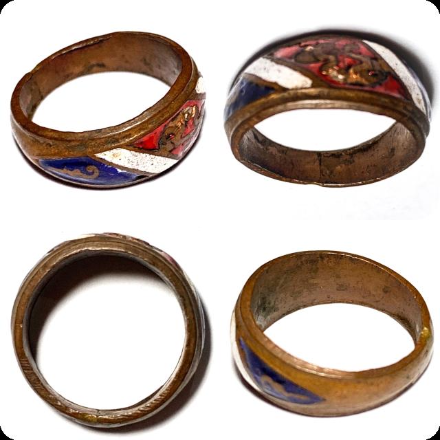 Hwaen Arahang Long Ya Tong Chart 2495 BE 1.7 Cm Ring of Protection Luang Por Jong Wat Na Tang Nork