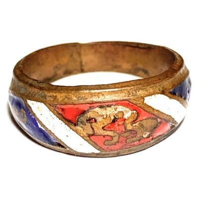 Hwaen Arahang Long Ya Tong Chart 2495 BE 1.7 Cm Ring of Protection Luang Por Jong Wat Na Tang Nork