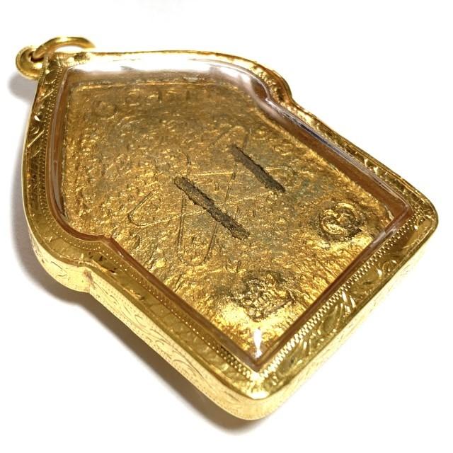 Khun Phaen Prai Kumarn Nuea Khaw Hniaw Sukh Ta Bronze Takrut Sariga Code Sala Code 3 Gold Casing & Certificate Luang Phu Tim Free EMS